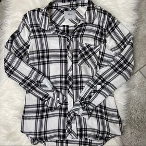 Rails Hunter Snow Navy Forest Plaid Button down